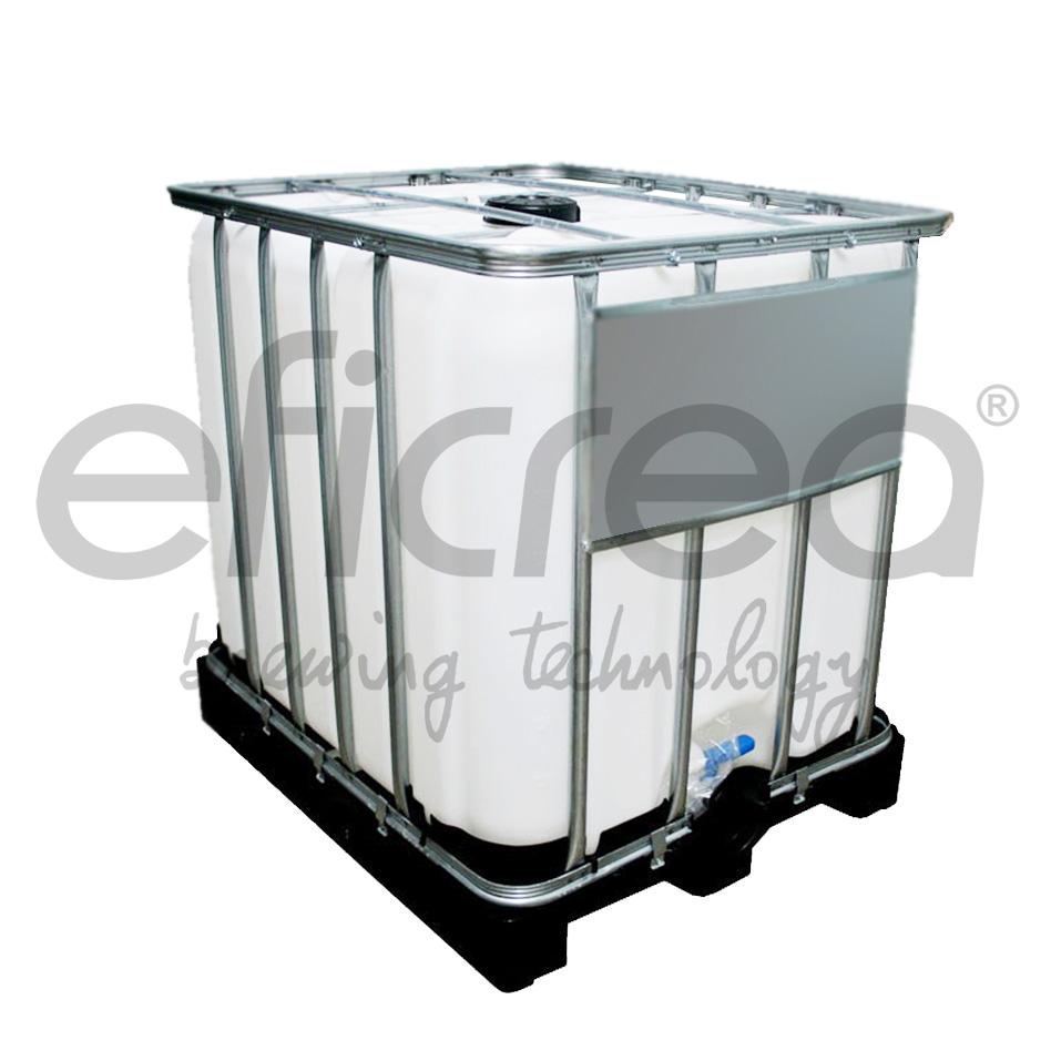 Dep sito cuadrado pl stico apilable lts for Bidones de agua de 1000 litros